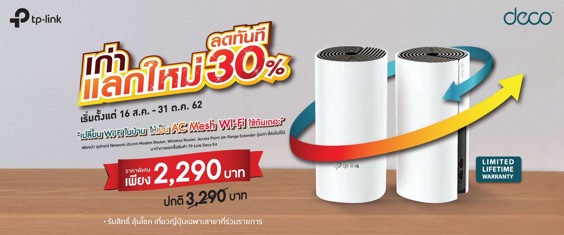 TP-Link Deco E4 - 16 Aug - 31 Oct 19